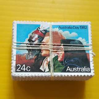 100 STAMPS LOT ( 1 BUNDLE ) - AUSTRALIA - 1982 - AUSTRALIA DAY  - Commemorative - Used Stamp