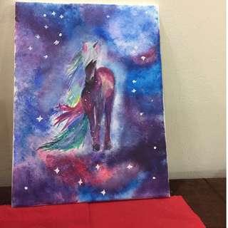 Unicorn painting on canvas