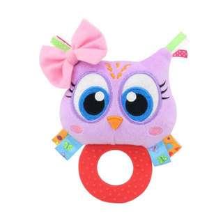 🦁Instock - pink owl rattle toy, baby infant toddler girl children sweet kid abcdefg