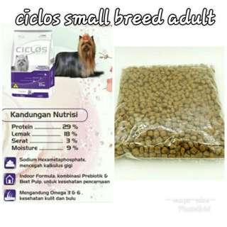 Makanan anjing ciclos adult 500gr