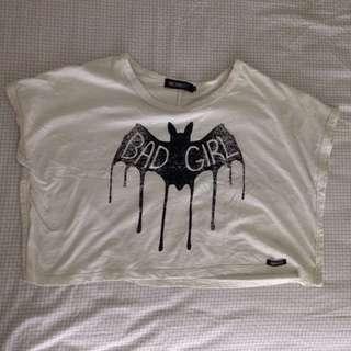 Baju Crop Batwing