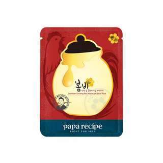 Papa recipe ginseng red honey mask 10 sheets per box
