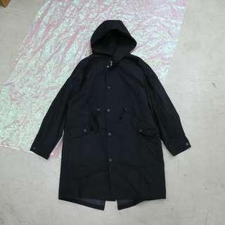 軍風大衣長版中性外套