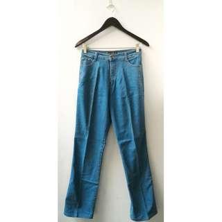 Celana Jeans Panjang Biru Muda Wanita