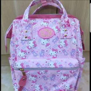 In stock Hello Kitty Design Anello Design Backpack Bag size is 25.5 × 16.5cm × 41 cm