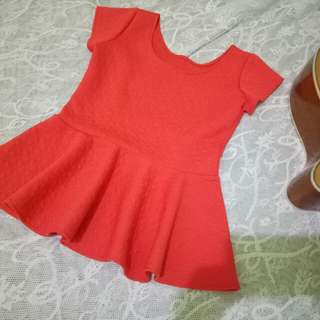 Orange Pleplum Top