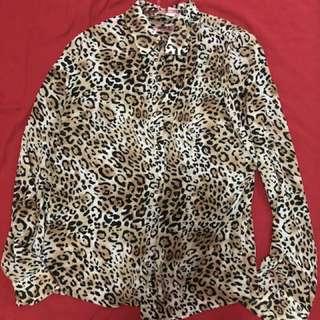 ZARA 豹紋襯衫