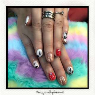 Classic Mani Gelish with art