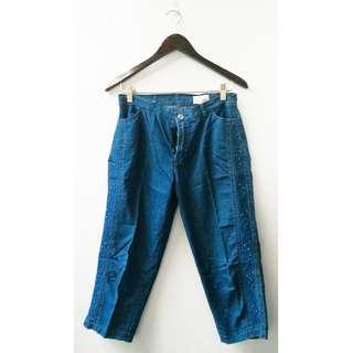 Celana Jeans Tanggung Selutut Wanita