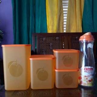 1 SET Wadah dan Botol cantik (orange)