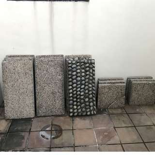 Garden floor slab