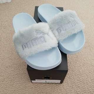 Fenty fur slides