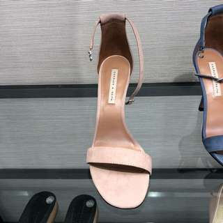Charles and Keith Pink Heeled Sandals