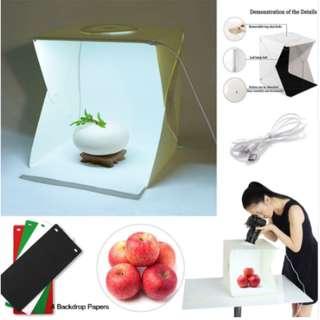 ✅ Portable LED Lightbox Light Tent Foldable Photography Studio Softbox Light box (40x40cm) - With 4 different colour backdrop