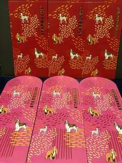 Red Packets: Starbucks Year of the Dog Red Packets  Set of 6 Pieces