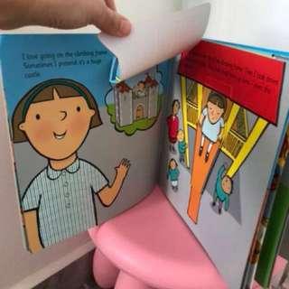 Children's Book (lift the flap/ start school my new playground)