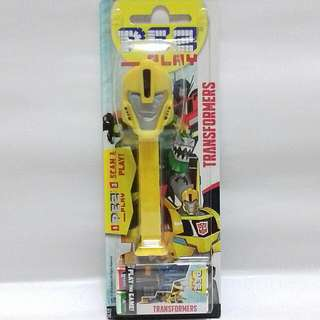 (RM15👍👌)Transformers Animated Bumblebee Pez Dispenser
