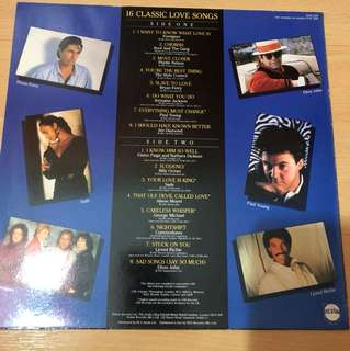 16 classic love songs lp