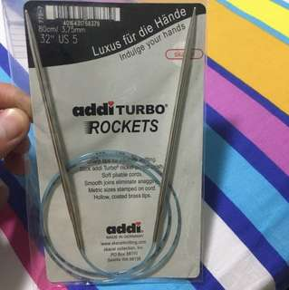 Addi turbo rockets knitting needle 80cm/3.75mm