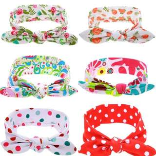 🐰Instock - printed assorted headband, baby infant toddler girl children sweet kid happy abcdefg