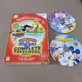 Preschool dvd-rom with 2 free Mickey  Disney cd