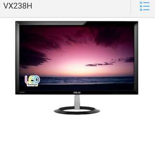 "Excellent 1ms gaming monitor. Asus 23"" lcd monitor. 1 year warranty left. Seldom used in box"