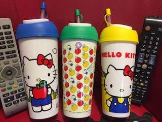 Sanrio official bottles Hello Kitty  3 types fm Thailand 7-11