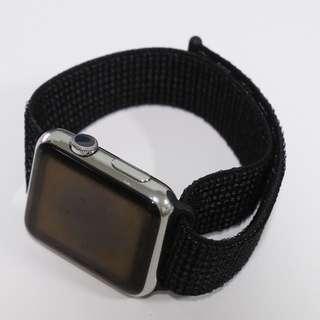 Apple Watch Series 1 - Stainless Steel Case with Black/Pure Platinum Nike Sport Loop