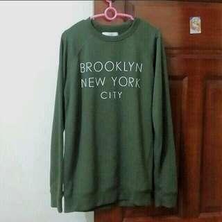 BN Olive Green Pullover Sweater Harajuku fashion