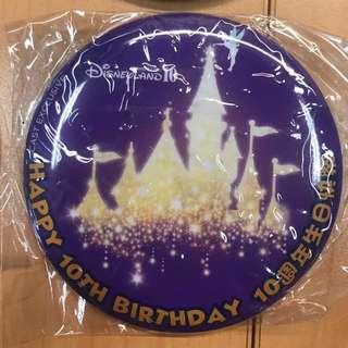 香港迪士尼樂園,10週年紀念襟章