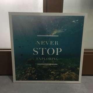 Travel motto art