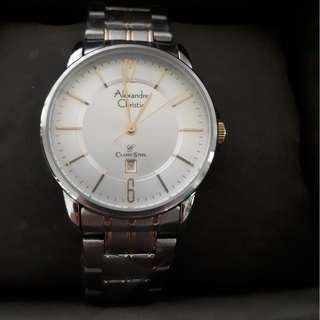 Alexandre Christie classic steel watch