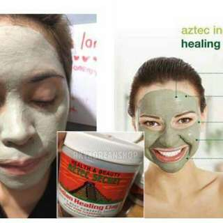 Aztec indian healing clay and apple cider vinegar