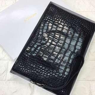 YSL clutch snake skin