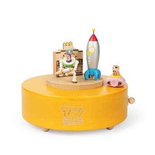 🚚 迪士尼 Disney / 玩具總動員巴斯&火腿木質旋轉音樂盒 / D217 / Toy Story 皮克斯