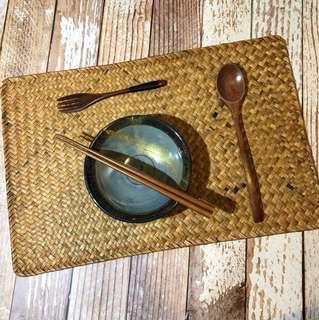 竹編隔熱墊 日式和風 盤墊 碗墊 似無印良品款式