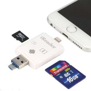 iReader Flash Drive USB / TF / SD Card+Android OTG 直播讀寫 影片 音樂 檔案 ios 10