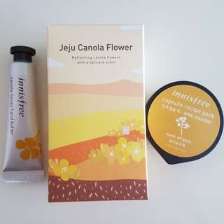 Innisfree canola hand butter and recipe set