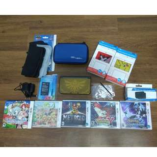 N3DS Hyrule Version(NON-MODED) with games & accessories