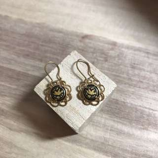 西班牙銅製雕刻復古耳環/Spain Made Engraving Vintage Earring