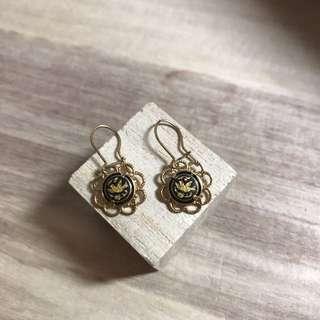 西班牙銅製雕刻復古耳環/Spain Made Engraving Vintage Earring