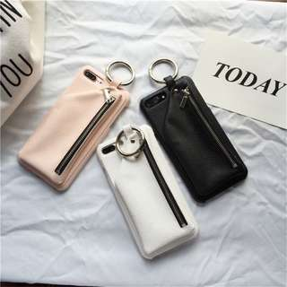 Casing Handphone - Leather Luxury Zipper Wallet Phone Cases