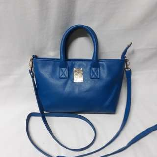 No brand mini cross body sling with two top handle preloved