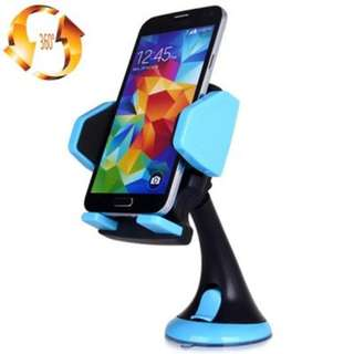JHD 12HD58 360 DEGREE ROTATABLE SUCTION BRACKET CAR HOLDER MOUNT STAND (BLUE)