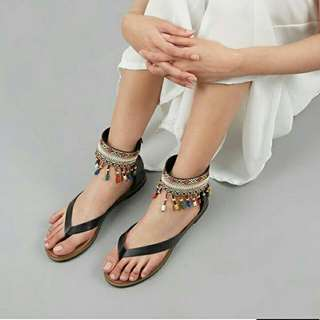 Sallie Sandals Bymay BLACK