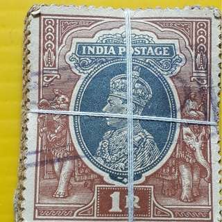 BRITISH INDIA - King GOERGE VI -  1 Rupee - 100 Stamps LOT ( 1 BUNDLE ) - Used & RARE - Colonial