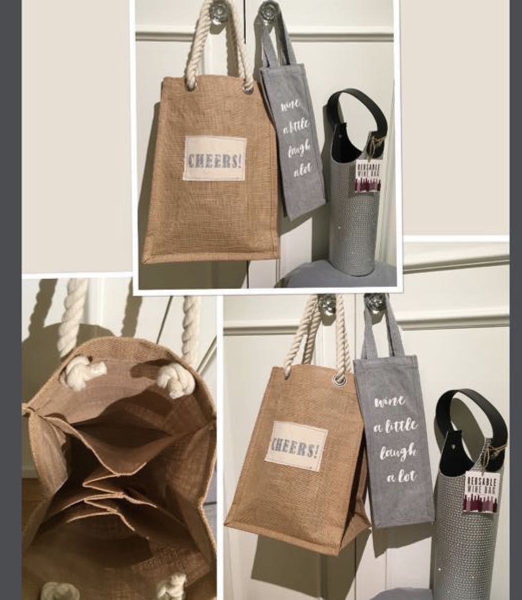 ***3 BRAND NEW WINE BAGS ONLY SOLD AS A SET OF 3*** *In excellent condition...all three bags brand new!!!!