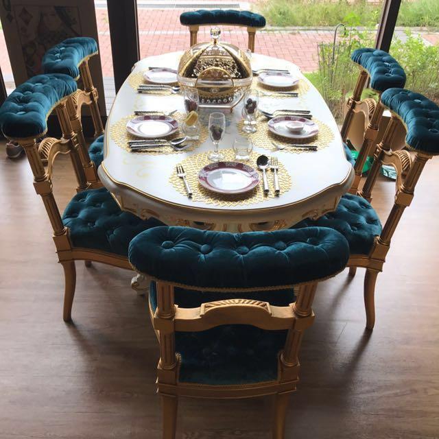 💥巴洛克式典藏餐桌椅整組