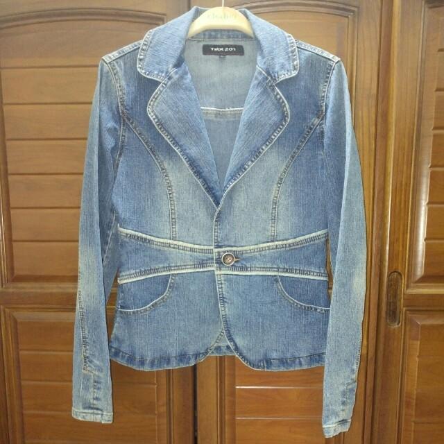 TMX201淺藍色率性牛仔外套