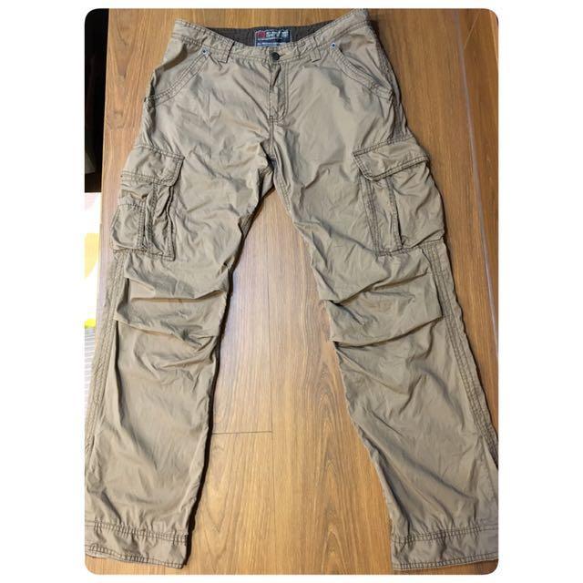 二手 土黃工作褲 多口袋 32腰